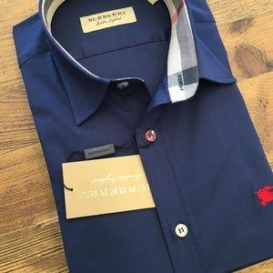 Burberry London England Men's Casual Shirt
